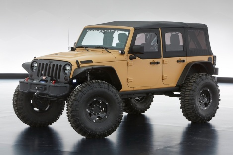 The LED off-road lights and headlamps, Rubicon 10th Anniversary swing away rear tire carrier are some new additions.
